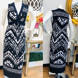 ENFOCUS Woman Navy & White Maxi Dress